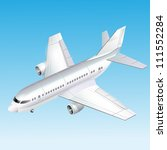 passenger plane vector... | Shutterstock .eps vector #111552284