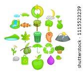 environmental pollution icons...   Shutterstock .eps vector #1115523239