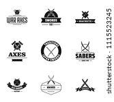 time of conflict logo set....   Shutterstock .eps vector #1115523245