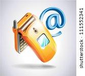 mobile phone on white... | Shutterstock .eps vector #111552341