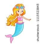 mermaid on a white background.... | Shutterstock .eps vector #1115523845