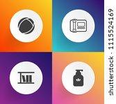 modern  simple vector icon set... | Shutterstock .eps vector #1115524169