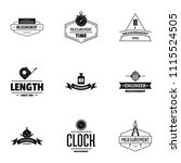 object construction logo set.... | Shutterstock .eps vector #1115524505