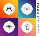 modern  simple vector icon set... | Shutterstock .eps vector #1115525309