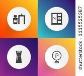 modern  simple vector icon set... | Shutterstock .eps vector #1115525387