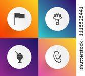modern  simple vector icon set... | Shutterstock .eps vector #1115525441