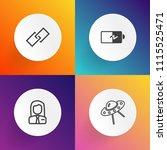 modern  simple vector icon set... | Shutterstock .eps vector #1115525471