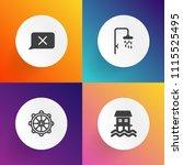 modern  simple vector icon set...   Shutterstock .eps vector #1115525495