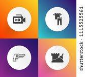 modern  simple vector icon set... | Shutterstock .eps vector #1115525561