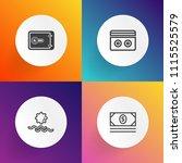 modern  simple vector icon set... | Shutterstock .eps vector #1115525579