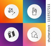 modern  simple vector icon set... | Shutterstock .eps vector #1115527211