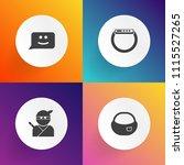 modern  simple vector icon set... | Shutterstock .eps vector #1115527265