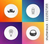 modern  simple vector icon set... | Shutterstock .eps vector #1115527355