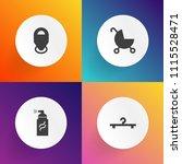 modern  simple vector icon set... | Shutterstock .eps vector #1115528471
