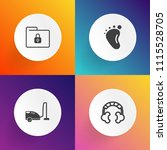 modern  simple vector icon set... | Shutterstock .eps vector #1115528705