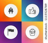modern  simple vector icon set... | Shutterstock .eps vector #1115528789