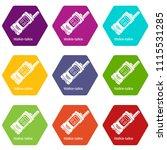portable radio icons 9 set...   Shutterstock .eps vector #1115531285