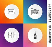 modern  simple vector icon set... | Shutterstock .eps vector #1115531699