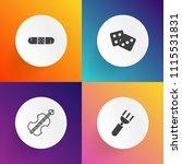 modern  simple vector icon set... | Shutterstock .eps vector #1115531831