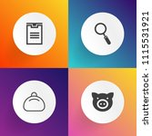 modern  simple vector icon set... | Shutterstock .eps vector #1115531921