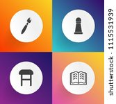 modern  simple vector icon set... | Shutterstock .eps vector #1115531939