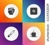 modern  simple vector icon set... | Shutterstock .eps vector #1115532029