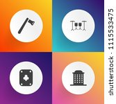 modern  simple vector icon set...   Shutterstock .eps vector #1115533475