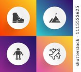 modern  simple vector icon set... | Shutterstock .eps vector #1115533625