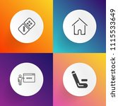 modern  simple vector icon set... | Shutterstock .eps vector #1115533649