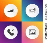 modern  simple vector icon set... | Shutterstock .eps vector #1115533721