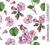 seamless floral pattern with... | Shutterstock .eps vector #1115534327