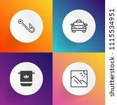 modern  simple vector icon set... | Shutterstock .eps vector #1115534951