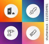 modern  simple vector icon set... | Shutterstock .eps vector #1115534981