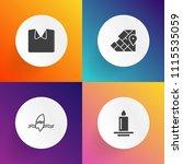 modern  simple vector icon set... | Shutterstock .eps vector #1115535059