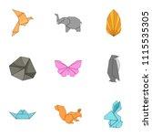 cotton icons set. cartoon set...   Shutterstock .eps vector #1115535305