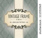 vintage frame | Shutterstock .eps vector #111553565