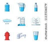 pour icons set. cartoon set of...   Shutterstock .eps vector #1115536079