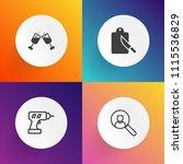 modern  simple vector icon set... | Shutterstock .eps vector #1115536829