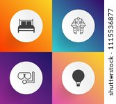 modern  simple vector icon set... | Shutterstock .eps vector #1115536877