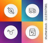 modern  simple vector icon set... | Shutterstock .eps vector #1115537081