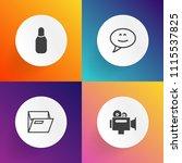 modern  simple vector icon set... | Shutterstock .eps vector #1115537825