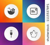 modern  simple vector icon set... | Shutterstock .eps vector #1115537891