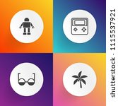 modern  simple vector icon set... | Shutterstock .eps vector #1115537921