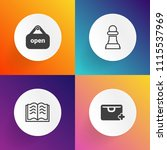 modern  simple vector icon set... | Shutterstock .eps vector #1115537969