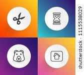 modern  simple vector icon set... | Shutterstock .eps vector #1115538029