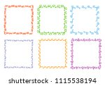 crayon hand drawing square... | Shutterstock .eps vector #1115538194