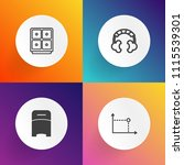 modern  simple vector icon set... | Shutterstock .eps vector #1115539301