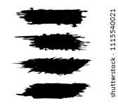 vector set of grunge brush... | Shutterstock .eps vector #1115540021