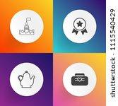 modern  simple vector icon set... | Shutterstock .eps vector #1115540429