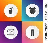 modern  simple vector icon set... | Shutterstock .eps vector #1115540489